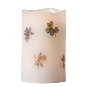 Watt & Veke Candle Blåsippa Led Kynttilä 12