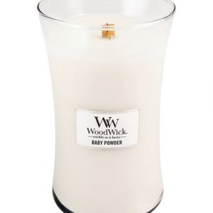 Woodwick Baby Powder Tuoksukynttilä 18 cm