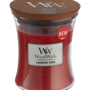 Woodwick Cranberry Cider Tuoksukynttilä 12 cm