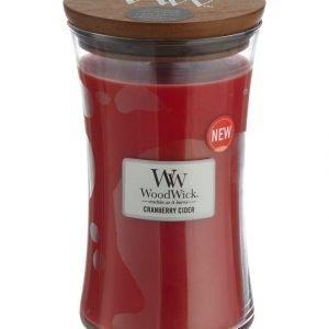 Woodwick Cranberry Cider Tuoksukynttilä 18 cm