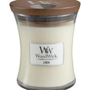 Woodwick Linen Tuoksukynttilä 12 cm