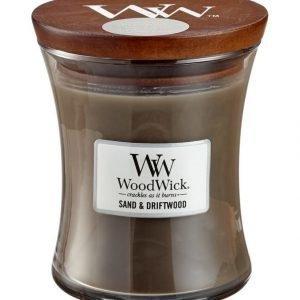 Woodwick Sand & Driftwood Tuoksukynttilä 12 cm