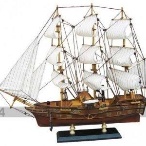 Wr Purjelaivan Pienoismalli Frigate Paddle Steamer