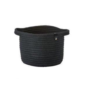 Zone Denmark Kahvallinen kori 100% Puuvilla Musta 18x14 cm